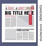 graphical design newspaper... | Shutterstock .eps vector #580634401