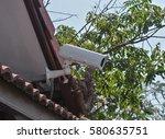 cctv camera and security camera. | Shutterstock . vector #580635751