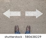 standing at the crossroad... | Shutterstock . vector #580638229