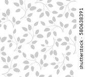 seamless pattern with grey... | Shutterstock .eps vector #580638391