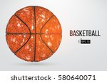 silhouette of a basketball ball.... | Shutterstock .eps vector #580640071