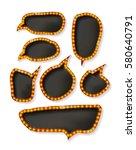 vector set of elegant sparkling ... | Shutterstock .eps vector #580640791
