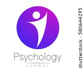 modern man sign of psychology.... | Shutterstock .eps vector #580644295