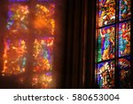 Reflection Of Old Stained Glass ...
