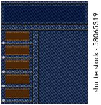 denim background or layout with ... | Shutterstock .eps vector #58065319