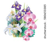 arrangement from flowers | Shutterstock .eps vector #580653385
