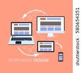flat design icons for internet... | Shutterstock .eps vector #580654351