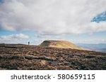 girl enjoying the welsh...   Shutterstock . vector #580659115