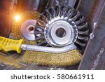 wire brush for mechanical... | Shutterstock . vector #580661911