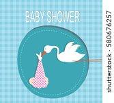 baby shower | Shutterstock .eps vector #580676257