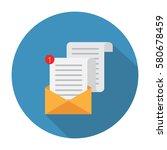 open envelope. vector... | Shutterstock .eps vector #580678459