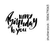 happy birthday lettering for... | Shutterstock .eps vector #580679065