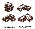 chocolate vector symbol vector... | Shutterstock .eps vector #580685737