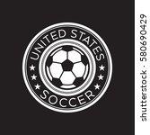 an american soccer crest in... | Shutterstock .eps vector #580690429