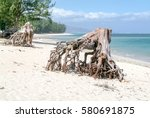 Stock photo the beach of hermitage on la reunion island france 580691875