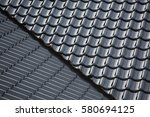 tiles on the roof. | Shutterstock . vector #580694125