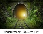 light at the end of tunnel | Shutterstock . vector #580695349