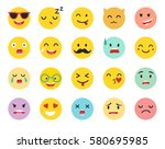 emoticons vector set. emoji... | Shutterstock .eps vector #580695985