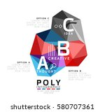 moden low poly infographics... | Shutterstock .eps vector #580707361