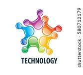vector logo technology | Shutterstock .eps vector #580712179