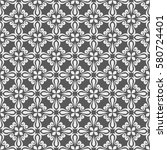 seamless white and grey floral... | Shutterstock .eps vector #580724401