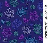 vector seamless pattern of neon ...   Shutterstock .eps vector #580724845