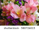 Bright Pink Flowers Of...