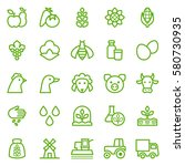 set of agriculture icons.... | Shutterstock .eps vector #580730935