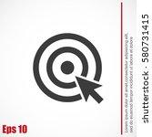 target vector  icon | Shutterstock .eps vector #580731415