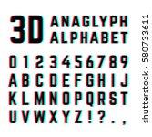 tv distortion 3d effect... | Shutterstock .eps vector #580733611