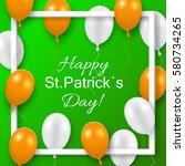 saint patrick's day poster  | Shutterstock .eps vector #580734265