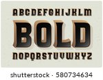 big bold extruded typeface with ... | Shutterstock .eps vector #580734634