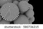 optical illusion pattern on 3d... | Shutterstock . vector #580736215