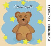 bear with stars | Shutterstock .eps vector #580740691