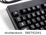 black keyboard usb port thai... | Shutterstock . vector #580742341