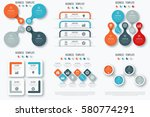 set with infographics. data and ... | Shutterstock .eps vector #580774291