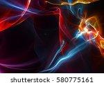 magic night. abstract artistic... | Shutterstock . vector #580775161