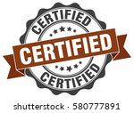 certified. stamp. sticker. seal.... | Shutterstock .eps vector #580777891