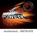 turbo power concept design...   Shutterstock .eps vector #580781455