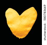 vector shining gold heart for... | Shutterstock .eps vector #580783669