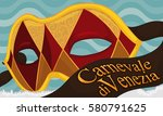 banner with golden and red... | Shutterstock .eps vector #580791625