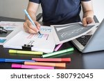 business  office concept. man... | Shutterstock . vector #580792045