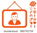 man portrait pictograph with... | Shutterstock .eps vector #580792759