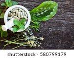 alternative health care fresh... | Shutterstock . vector #580799179