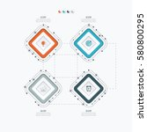 infographics template four...   Shutterstock .eps vector #580800295