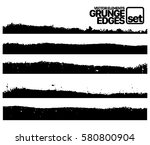 set of grunge and ink stroke... | Shutterstock .eps vector #580800904