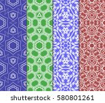 set of modern decorative floral ...   Shutterstock .eps vector #580801261