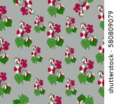 pattern of violet. | Shutterstock .eps vector #580809079