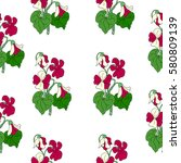pattern of violet. | Shutterstock .eps vector #580809139