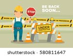 under construction concept with ...